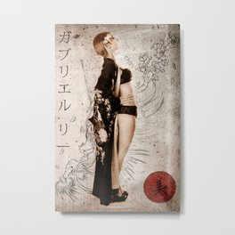 Geisha Beauty Metal Print