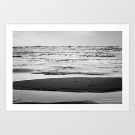 Dreamy mystic ocean tides Black and white Photography - Framed Art Print   Art Print