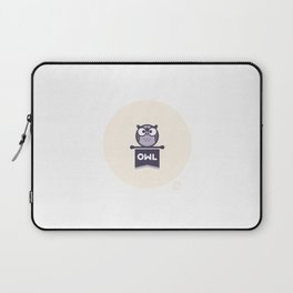Owl Mascot Laptop Sleeve