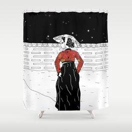 A secret step Shower Curtain