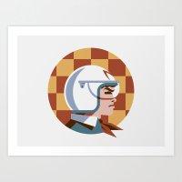 Headgear: Speed Racer Art Print