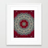 mandala Framed Art Prints featuring Mandala Nada Brahma  by Elias Zacarias