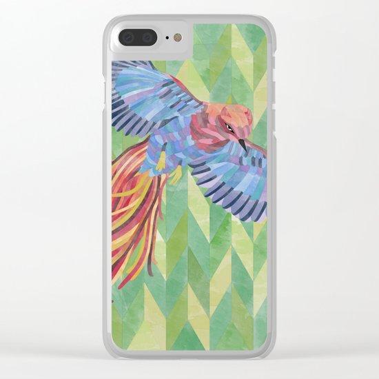 Paradise bird Clear iPhone Case
