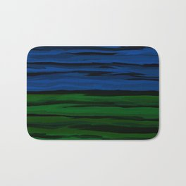 Emerald Green, Slate Blue, and Black Onyx Spilt Bath Mat
