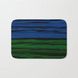 Emerald Green, Slate Blue, and Black Onyx Spilt Bath Mat