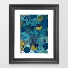 Fluid Geometric  Framed Art Print