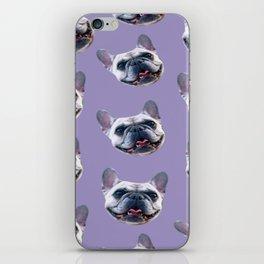 light purple dog pattern cute puppy french bulldog iPhone Skin
