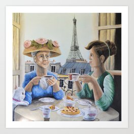 Tea Time in Paris Art Print