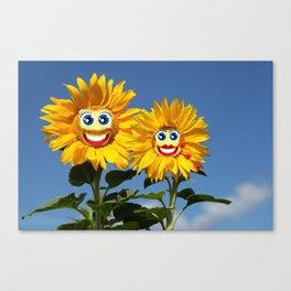 Sonnenblumenfrau und Sonnenblumenmann Canvas Print