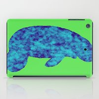 manatee iPad Cases featuring blue manatee by Crayle Vanest