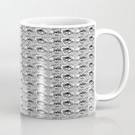 Steve Buscemi's Eyes Tiled Pattern Comic Black and white Coffee Mug