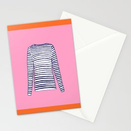 FRENCH STRIPED SHIRT Stationery Cards