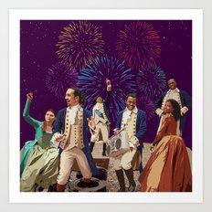 Hamilton's Party  Art Print
