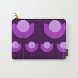 Abstract purple Tulips Carry-All Pouch