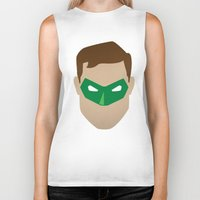 green lantern Biker Tanks featuring Green Lantern by Sport_Designs