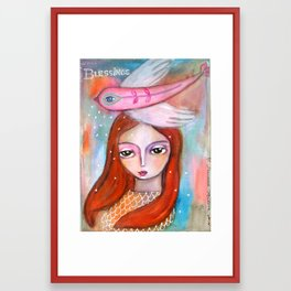 Blessings - girl art Framed Art Print