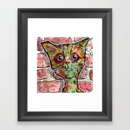 Chester the zombie cat Framed Art Print