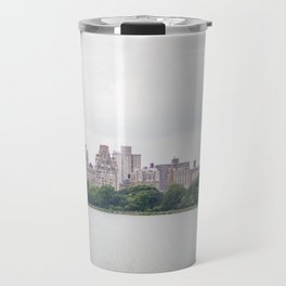 Monochromatic | Moody Architecture Landscape Photography of New York City Central Park Horizon Travel Mug