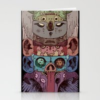 totem Stationery Cards featuring Totem by kitsunebis