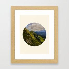 Green Musical Mountains Round Photo Frame Framed Art Print