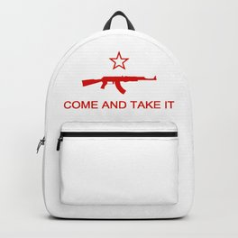 Come and Take It AK47 Red Backpack