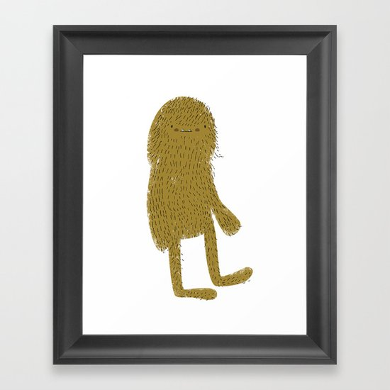 Sasquatch man Framed Art Print
