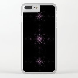 Starburst Grid Clear iPhone Case