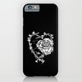 The End-Dead Love-Rose-Bones iPhone Case
