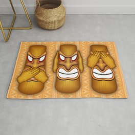 Don't See Don't Hear Don't Speak Totems Rug