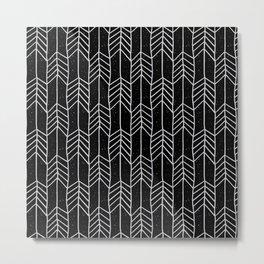 Arrows in Black Metal Print