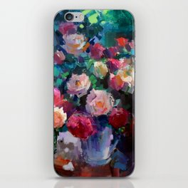 Flowers on The Garden Table iPhone Skin