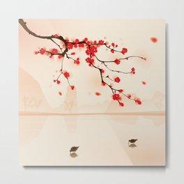 Oriental plum blossom in spring 002 Metal Print