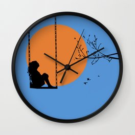 Dreaming like a child Wall Clock
