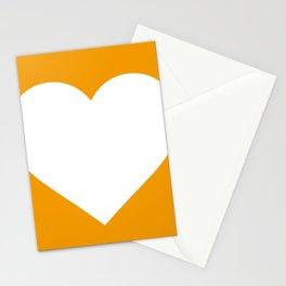 Heart (White & Orange) Stationery Cards