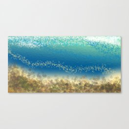 Abstract Seascape 04 wc Canvas Print