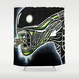 Cyber Alien Shower Curtain