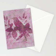 Paradiese Bird mixed media collae art Stationery Cards