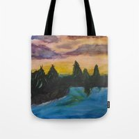 maine Tote Bags featuring Maine by Lissasdesigns