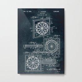 1935 - Dart board patent art Metal Print
