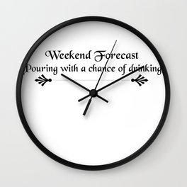 Pouring with Drinking Wall Clock