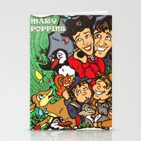 mary poppins Stationery Cards featuring Mary Poppins by Carol Wellart