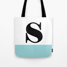 Monogram Letter S-Pantone-Limpet Shell Tote Bag