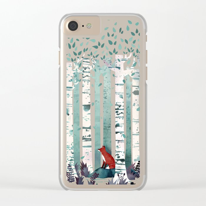 The Birches Clear iPhone Case