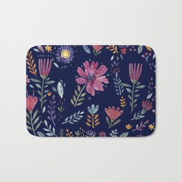 Watercolor Flowers Bath Mat