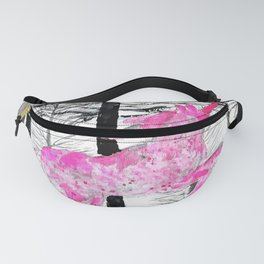 Pink unicorn in the wood Fanny Pack