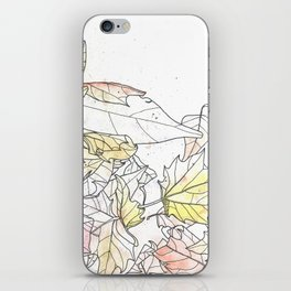 Autumn Leaves Watercolor iPhone Skin