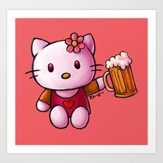 Kitty-chan Art Print