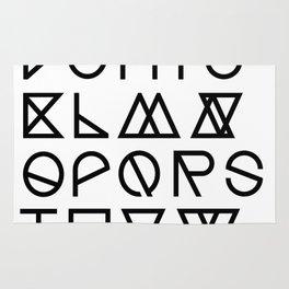 """Print """"Geometrical ABC"""" Rug"""