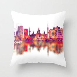 Hanover Germany Skyline Throw Pillow