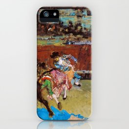 Bullfight, Wounded Picador - Digital Remastered Edition iPhone Case